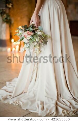 美しい · 花嫁 · ネックレス · 手 · 結婚式 - ストックフォト © svetography