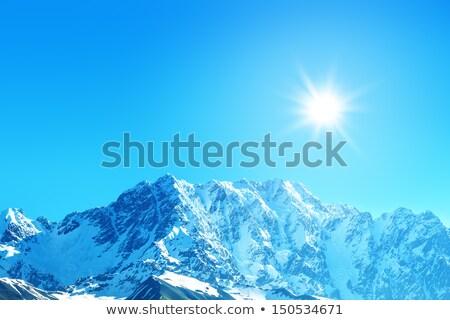 ледяной горные пейзаж Грузия Кавказ Сток-фото © Kotenko