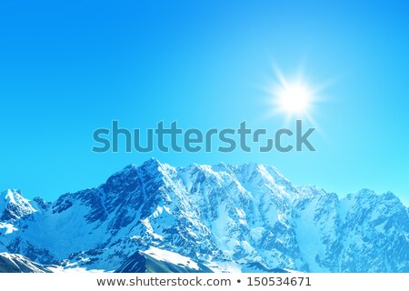 Buz gibi dağ manzara Georgia kafkaslar Stok fotoğraf © Kotenko