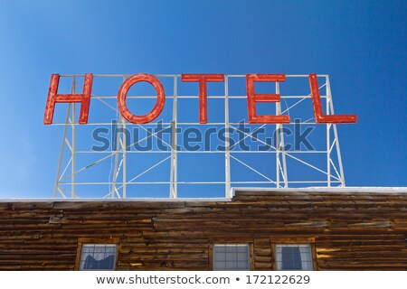 Stock photo: Roof of old wooden hotel