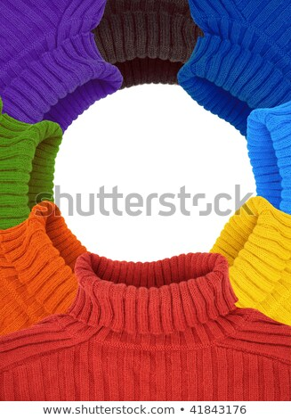 round frame of multi color rainbow sweaters collage stock photo © Paha_L