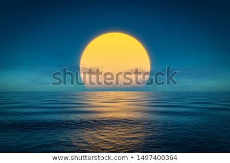 The Rising Sun Over the Sea Stock photo © Kayco