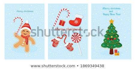 candy can in socks Stock photo © shutswis