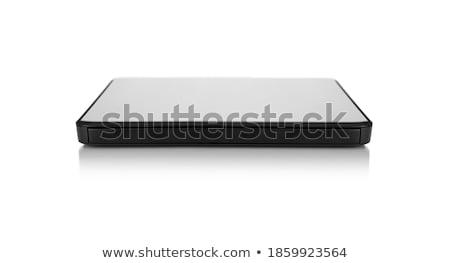 Portátil esbelto cd isolado branco música Foto stock © shutswis