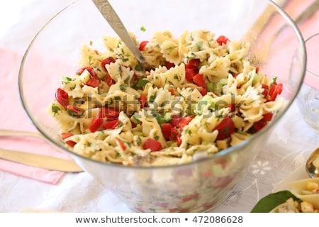 pasta · pesto · tomaten · heerlijk · ruimte · vork - stockfoto © digifoodstock