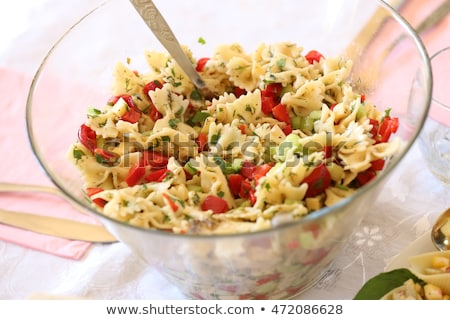 Bow tie pasta salad Stock photo © Digifoodstock