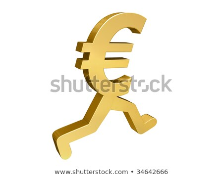 euro running past stock photo © 3mc