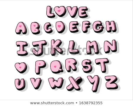 Alfabet pastel witte verf achtergrond brief Stockfoto © vlad_star