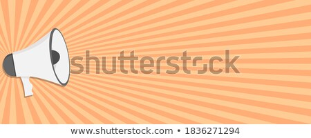 Orange and yellow important note flat design vector template. Stock photo © tuulijumala