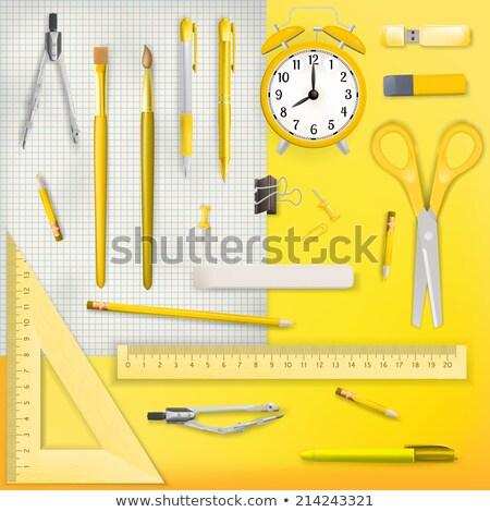 Lápis giz de cera eps 10 Foto stock © beholdereye