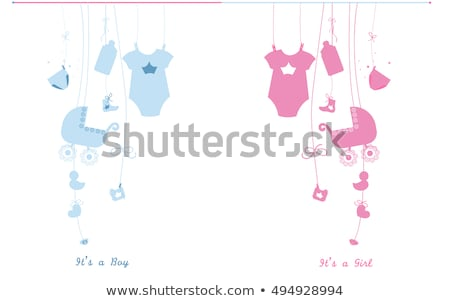 the baby clothes with card stock photo © master1305