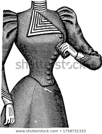 иллюстрация Vintage моде тело медицина одежды Сток-фото © gigi_linquiet