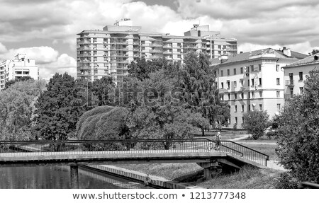 Residential housing in a city - housing project with plenty of s Stock photo © lightpoet