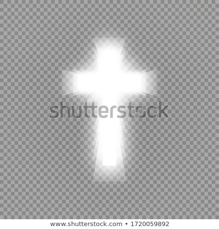 Cross and shining sun stock photo © hraska