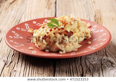 mashed potato with peeled barley stock photo © digifoodstock