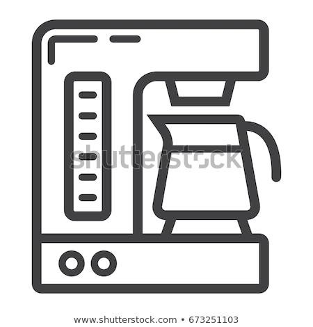чашку · кофе · кнопки · вектора · продовольствие · ресторан · зеленый - Сток-фото © rastudio