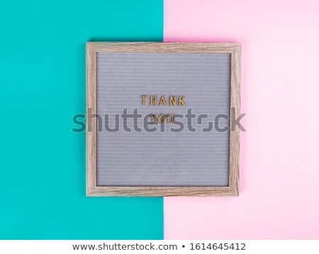 wooden letters, in duotone Stock photo © nito