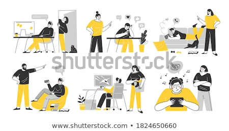 Faceless teenagers Stock photo © bluering