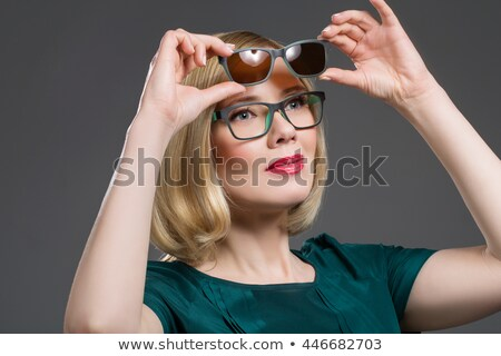 beautiful woman in transformer glasses stock photo © svetography