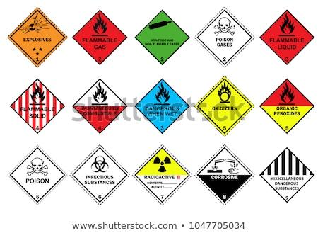 Közlekedés robbanószerek gyúlékony szett tilos jelzőtábla Stock fotó © boroda
