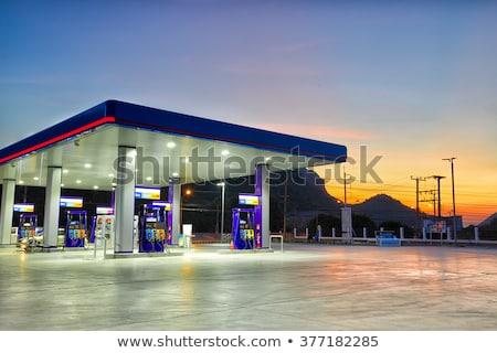Tankstation illustratie auto dienst gas tankstation Stockfoto © adrenalina