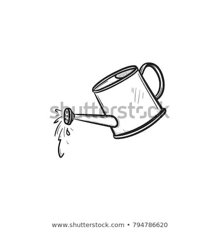 Watering can sketch icon. Stock photo © RAStudio