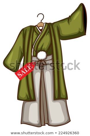 A sketch of a simple discounted dress from Asia Stock photo © bluering