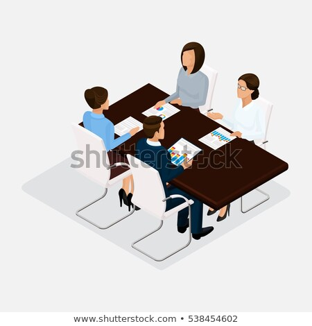 Faceless people discussing at the table Stock photo © bluering