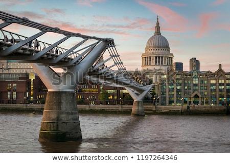 собора · моста · реке · Темза · глядя · Лондон - Сток-фото © paulfleet