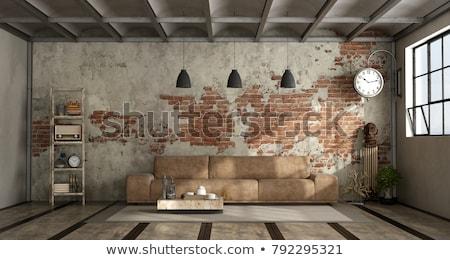 Stockfoto: Grunge · kamer · interieur · textuur · muur · abstract