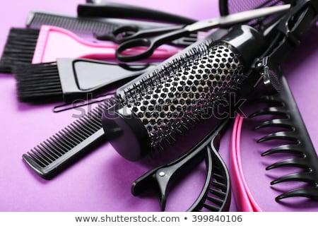 Accessories of hairdresser in barbershop Stock photo © bezikus