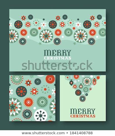 coração · flocos · de · neve · ano · novo · abstrato · natureza · projeto - foto stock © galyna