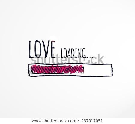 Amour bar main dessin marqueur transparent Photo stock © ivelin