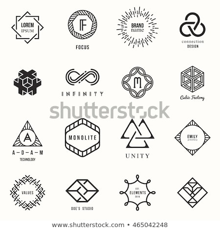 geometric lineart shapes Stock photo © SArts
