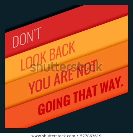 poster of motivational quotation with orange stripes Stock photo © SArts