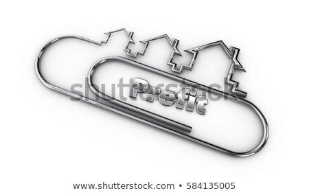 ezüst · 3D · modern · terv · logo · nyereség - stock fotó © tussik