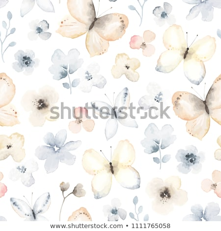 seamless watercolor butterflies pattern stock photo © balasoiu