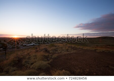 Western town with rock entrance Stock photo © bluering