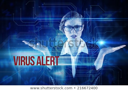 Circuit Board Virus Text Stock photo © albund