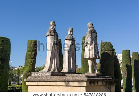 Old Stone Statues of the Christian Kings  in Cordoba Spain Stock photo © compuinfoto