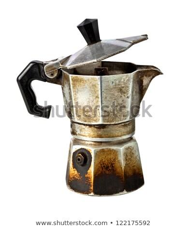 エスプレッソ ポット コーヒー 黒 レトロな カップ ストックフォト © grafvision