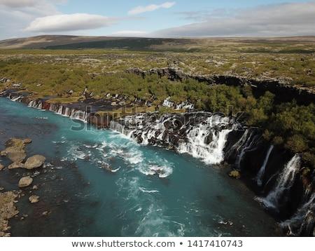 Landschap waterval verbazingwekkend water turkoois kleur Stockfoto © Kotenko