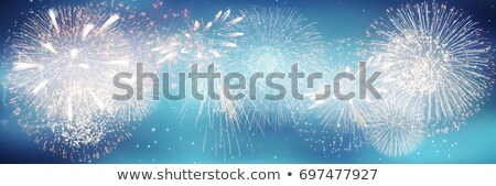 Beautiful blue green red celebration fireworks copy space Stock photo © TasiPas