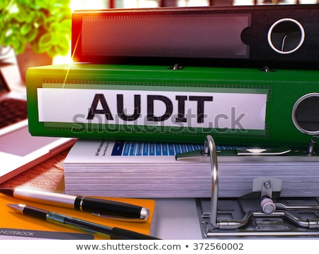 Green Office Folder with Inscription Audit Stock photo © tashatuvango