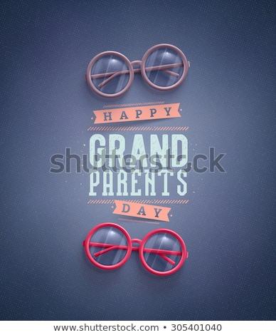 Grands-parents jour grand-mère grand-père grand-mère chat Photo stock © popaukropa
