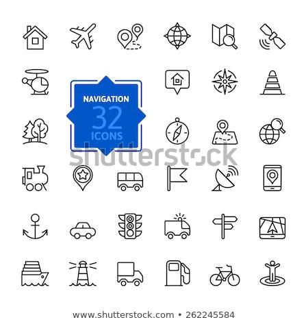 Móviles brújula icono dispositivo colección Foto stock © ahasoft