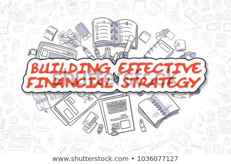 Budynku skuteczny finansowych strategii działalności krzyczeć Zdjęcia stock © tashatuvango