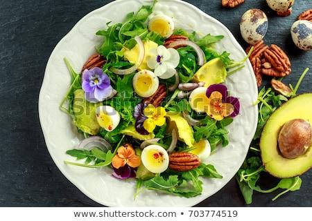 Erva salada dandelion alho margarida Foto stock © joker