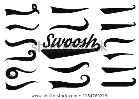Swooshes set for Athletic Typography. Vector Stock photo © Andrei_