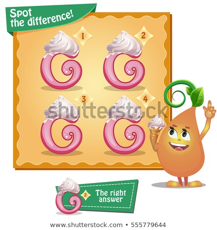 spot the difference letters g stock photo © olena